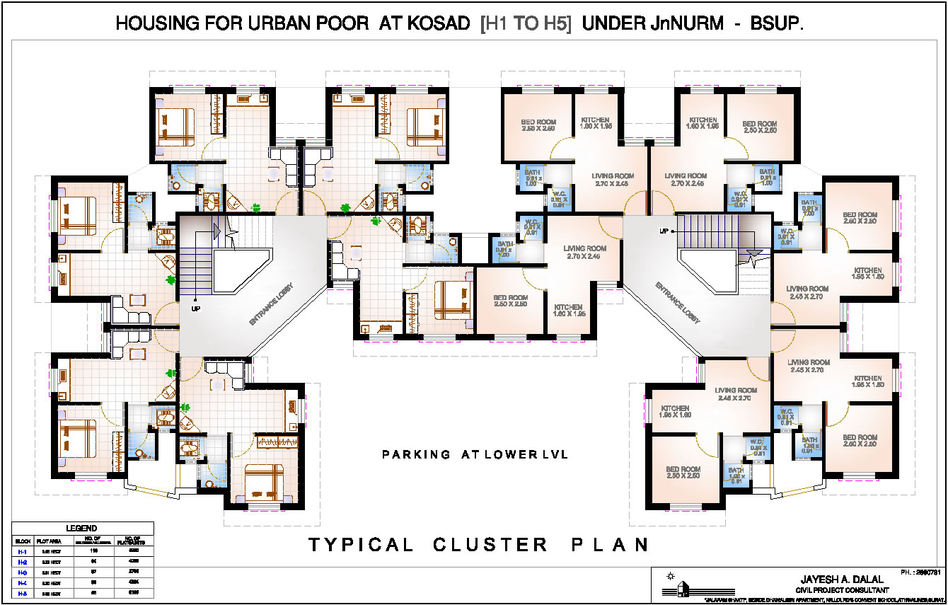 Cluster home floor plans cluster home floor plans for Cluster house floor plan
