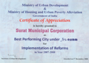 Best Performing City under JnNURM
