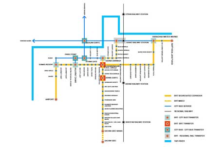 BRTS detail route map