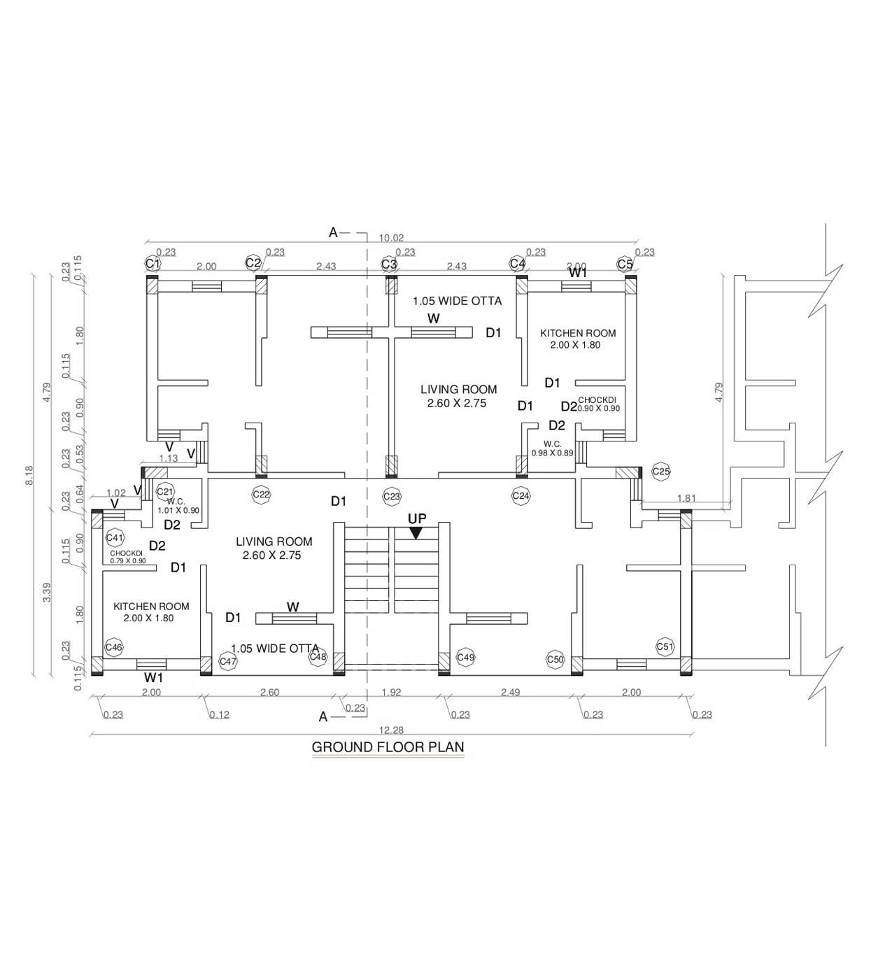 Slumupgradationewshousing for Typical house floor plan