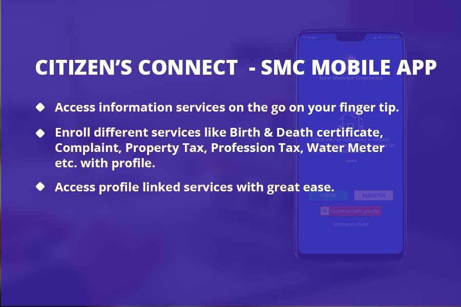 Citizen's Connect - Mobile Apps on Tablet View