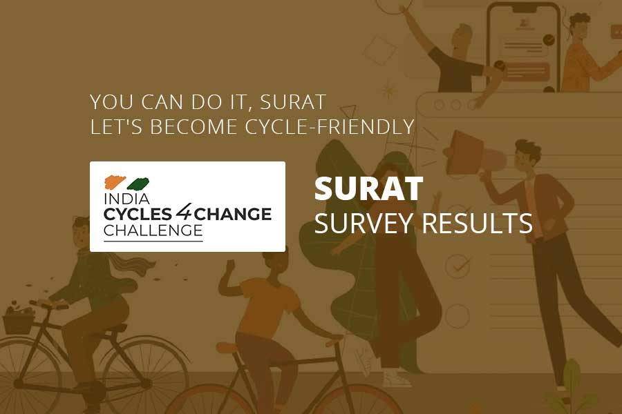 India Cycle4Change Online Survey for Surat City Results- Surat Municipal Corporation - Tablet View