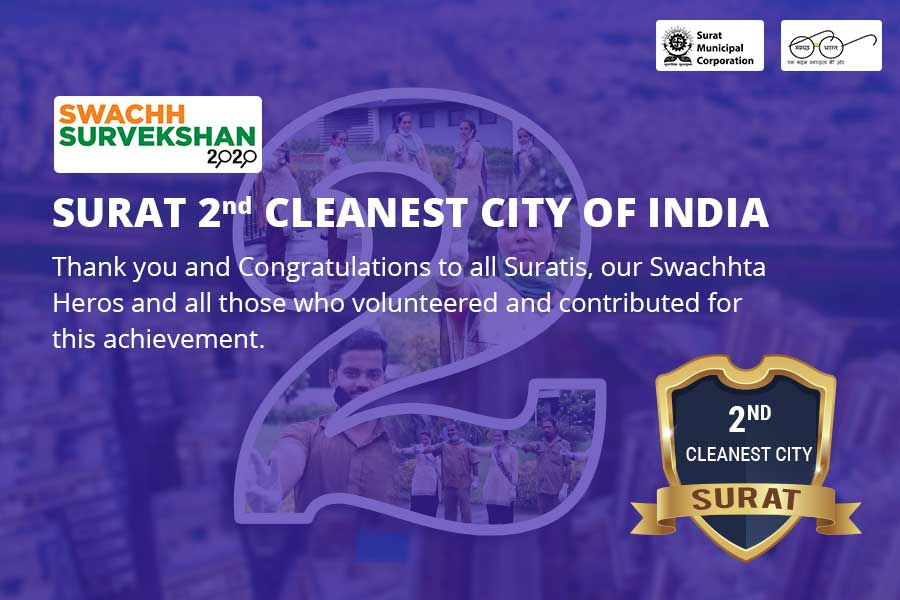 Surat 2nd Cleanest City In India - Surat Municipal Corporation - Tablet View